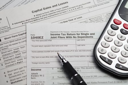 phillip rubino: Multiple 2012 Tax Forms with Calculator and Pen
