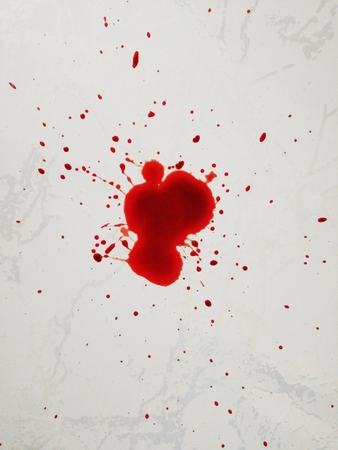 menstrual: menstrual blood spill on the granite floor Stock Photo