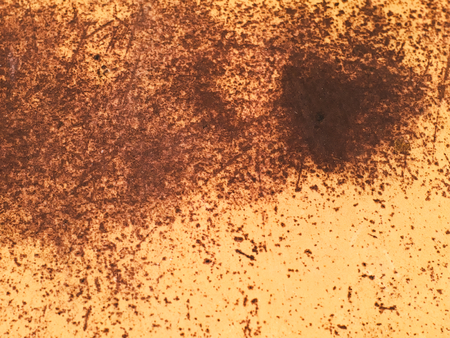 decayed: decayed and rusty metallic surface in brown colour Stock Photo