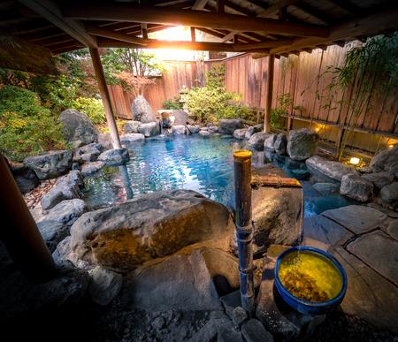 Japan outdoor hot spring Reklamní fotografie