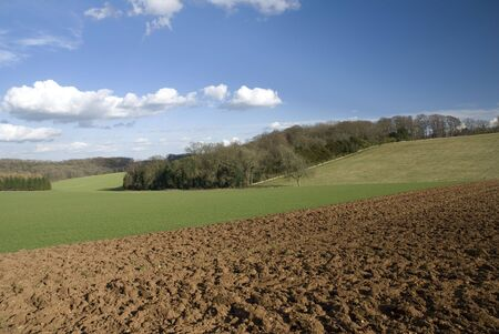 cotswold: Fields in Cotswold. England Stock Photo