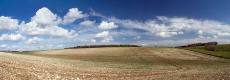 Panoramic in Cotswold. England photo