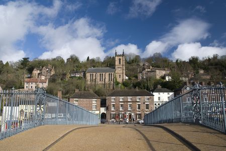 severn: Ironbridge is a settlement on the River Severn, at the heart of the Ironbridge Gorge in Telford, Shropshire, England. It lies in the parish of The Gorge, in the borough of Telford and Wrekin.