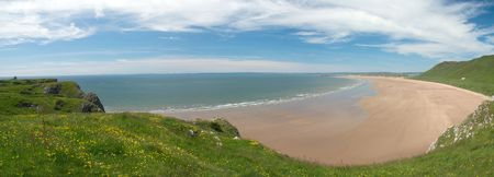 designated: The Gower Peninsula is a peninsula on the south coast of Wales. It was the first area in the United Kingdom to be designated as an Area of Outstanding Natural Beauty, in 1956.