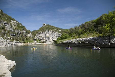 With its rivers and streams, Ard�che has become a favorite place for canoe and kayak enthusiasts from around the world. Ard�che contains a part of the C�vennes National Park. photo