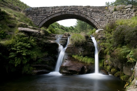 districts: Three Shires Head in Peak District. England