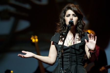 Katie Melua at Birmingham Symphony Hall in Birmingham on 27 April 2011  Stock Photo - 10404976
