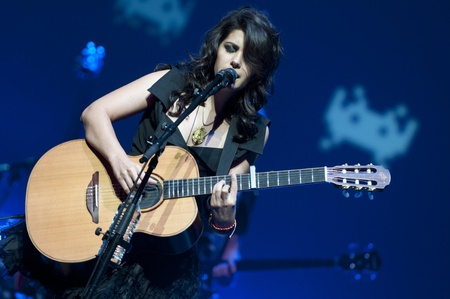 Katie Melua at Birmingham Symphony Hall in Birmingham on 27 April 2011  Stock Photo - 10404975