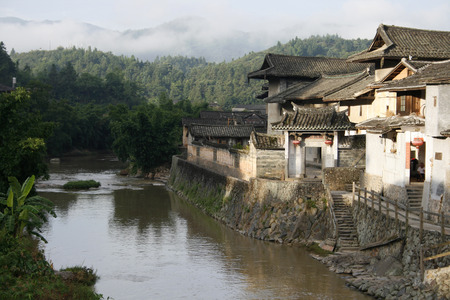 Ancestral Home located by the river in Fujian Province