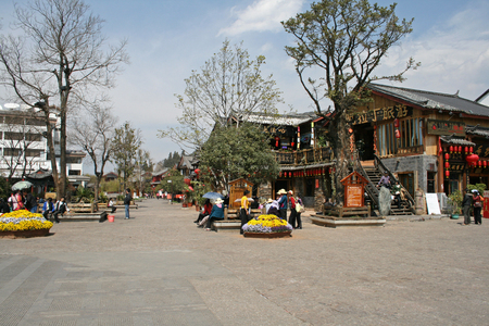 The public Square at Lijiang Ancient city