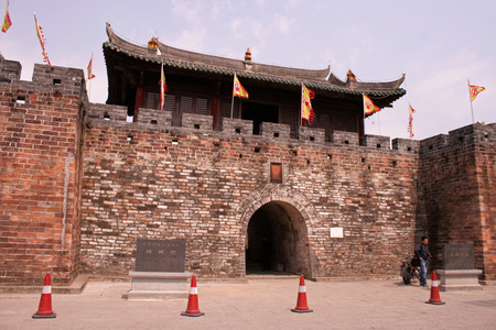 Shenzhen, China - March 27, 2012 - The entry gate to Dapeng Ancient City which was built in 1394