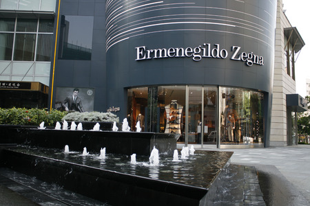 Shenzhen, China - November 26, 2010 - Ermenegildo Zegna store in Louhu District of Shenzhen China Editorial