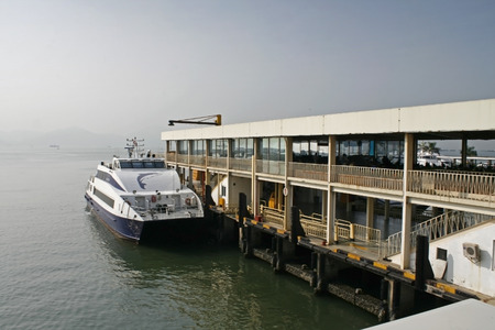 Shenzhen, China - August 30, 2010 - The Shekou Ferry which travels to Hong Kong