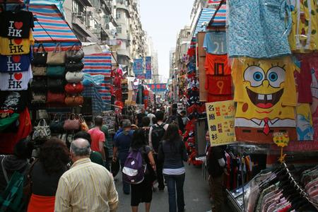 Hong Kong、中国 - 2010 年 12 月 21 日 - レディース マーケット - Hong Kong のストリート マーケット