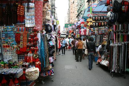 Hong Kong, China - December 21, 2010 - Ladies Market - a street market in Hong Kong Editorial