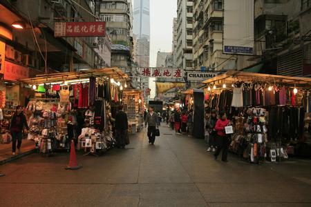 Hong Kong, China - April 8, 2010 - Temple street Night market in Hong Kong