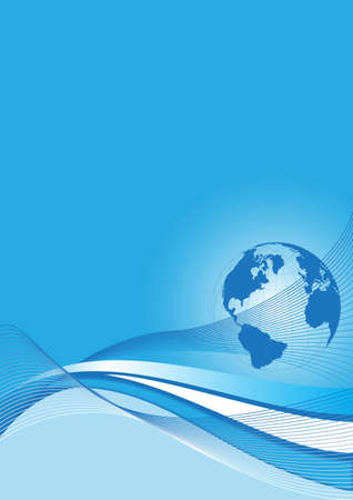 business background with a blue world globe