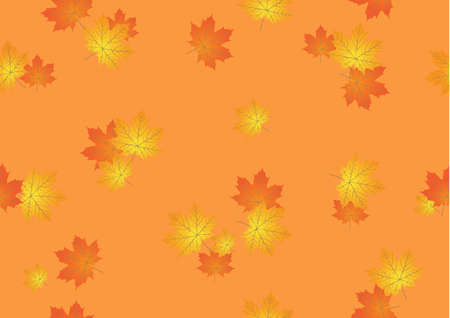 leaves vector: seamless background from autumn maple leaves vector
