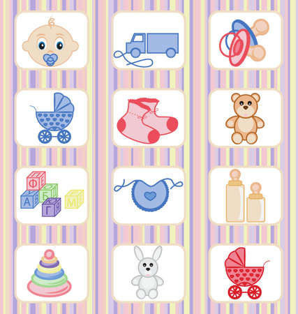 Baby icon collection Vector