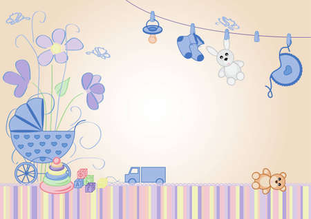 child birth: children background, the message would be a boy Illustration
