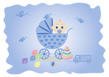 children background, the message would be a boy Vector
