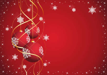 Christmas background with New Year ball in 2012  Illustration
