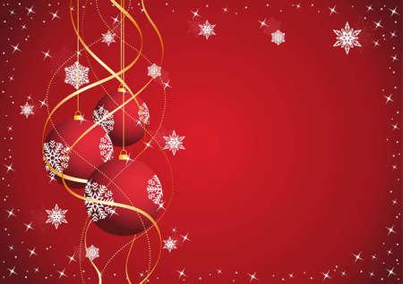 Fondo de Navidad con bolas de A�o Nuevo en 2012