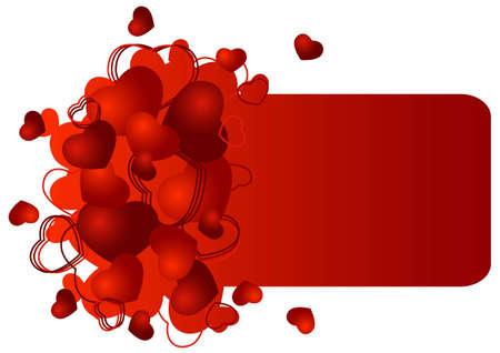 San Valent�n de tarjetas de felicitaci�n con la ilustraci�n vectorial corazones