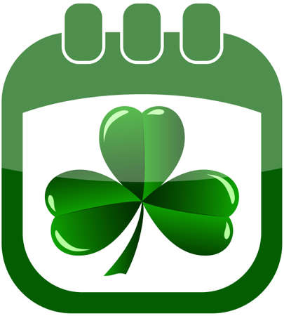 icon St Patrick Day in a calendar vector illustration Vector
