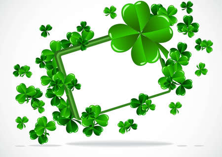 abstract background of St Patrick Day with shamrock vector illustration Vector