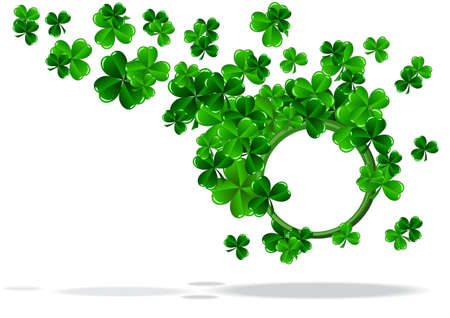 abstract background of St Patrick Day vector illustration Vector