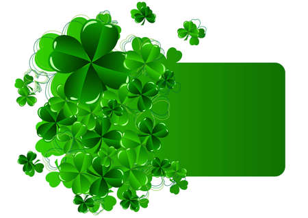 Greeting Cards St Patricks Day with shamrock vector illustration Vector
