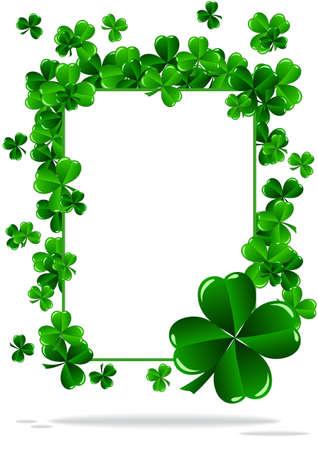 buena suerte: Tarjetas de felicitación del día del St Patrick ilustración vectorial