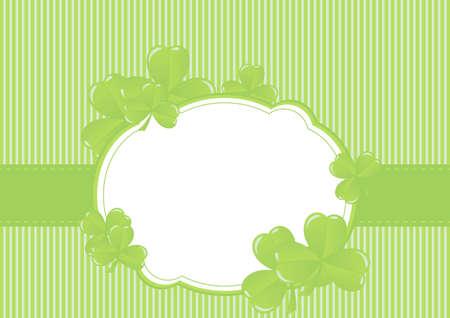 holy leaves: Greeting Cards St Patrick Day vector illustration Illustration