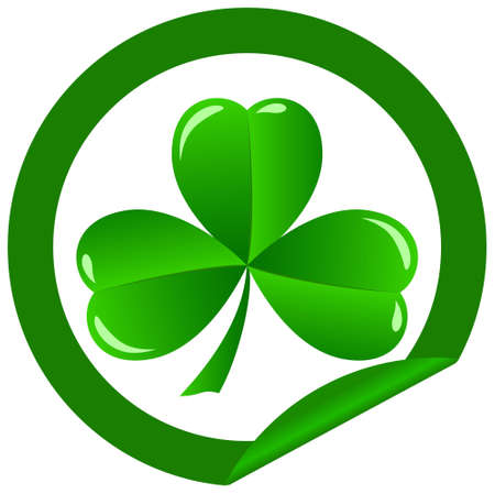 green shamrock as a symbol of St Patricks Day Isolated on white background Stock Vector - 12182634