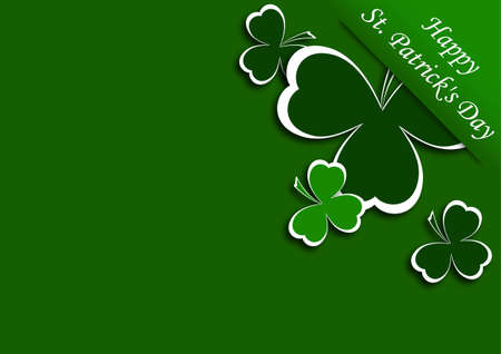 congratulatory background with clover vector illustration Vector