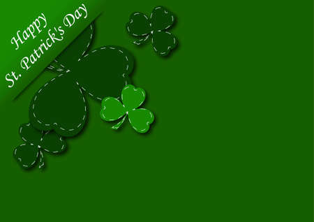 congratulatory background with shamrock vector illustration Vector