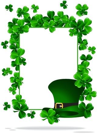 Tarjeta de felicitaci�n del d�a del St Patrick ilustraci�n vectorial