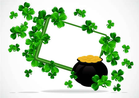 Greeting Card St Patrick Day vector illustration Stock Vector - 12478240