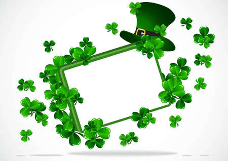 luck: Greeting Card St Patrick Day vector illustration Illustration