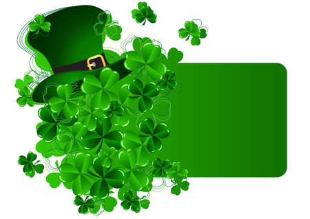 Greeting Card St Patrick Day vector illustration Stock Vector - 12478237