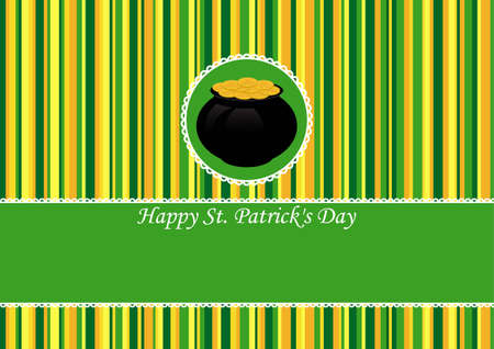 Greeting Card St Patrick Day vector illustration Stock Vector - 12478234