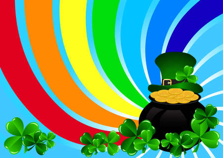 Greeting Cards St Patrick Day vector illustration Stock Vector - 12831564