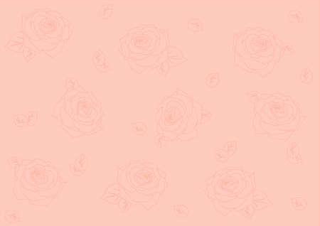 de fondo sin fisuras con las siluetas de las rosas