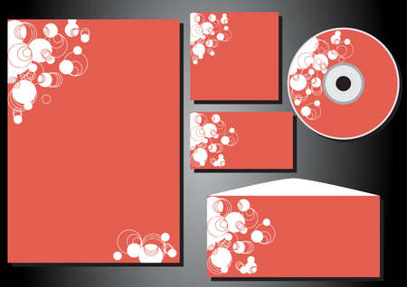 package printing: Patterns of business style (corporate identity) form, business card, CD, stationery, envelope  Illustration
