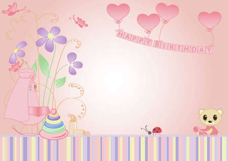children background, the message is girl Vector