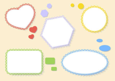 set of colorful balloons of different shapes with shadow Vector