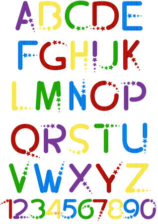 fun colorful alphabet letters and numbers