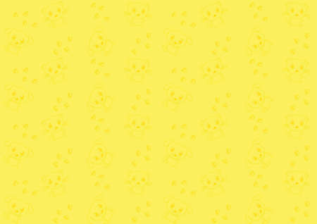 Seamless pattern with cat and dog on a yellow background Vector