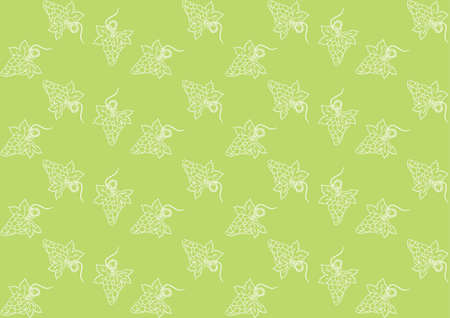 Seamless pattern with grapes on a green background Stock Vector - 16215663